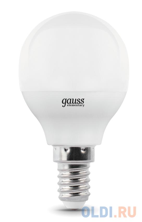 Лампа GAUSS 105101207-D  led globe-dim e14 7w 4100к диммируемая 1/10/100