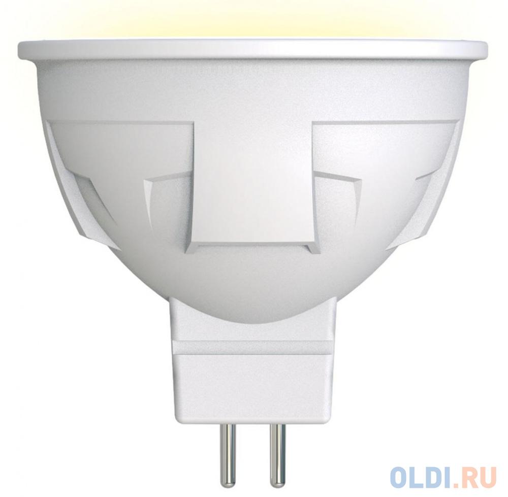 Лампа светодиодная полусфера Uniel LED-JCDR 6W/WW/GU5.3/FR PLP01WH GU5.3 6W 3000K