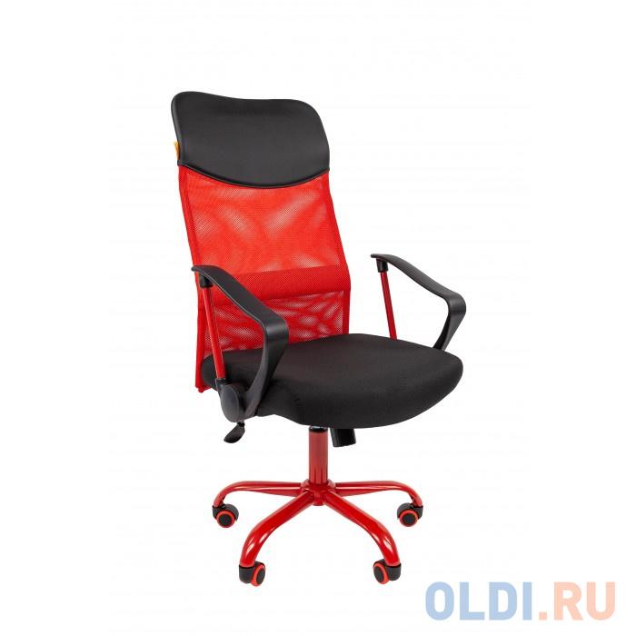 Офисное кресло Chairman 610 15-21 черный + красный