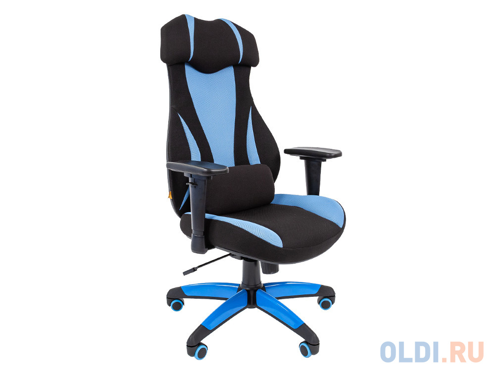 Офисное кресло Chairman GAME 14 ткань черн./голуб.