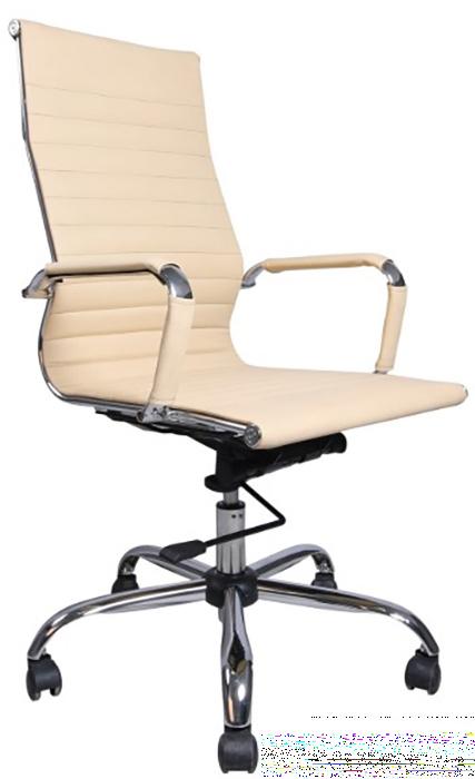 Фото - Кресло офисное BRABIX Energy EX-509, рециклированная кожа, хром, бежевое, 531166 кресло офисное brabix status hd 003 рециклированная кожа хром черное 531821