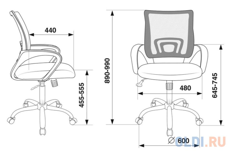 Кресло Бюрократ CH-695N/SL/SD/TW-11 салатовый TW-03A сиденье черный TW-11 крестовина хром