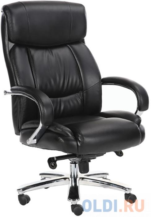 Фото - Кресло офисное BRABIX Direct EX-580, хром, рециклированная кожа, черное кресло офисное brabix status hd 003 рециклированная кожа хром черное 531821