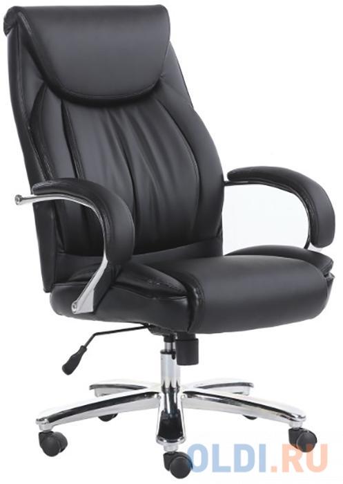 Кресло офисное BRABIX Advance EX-575, хром, экокожа, черное кресло офисное brabix maestro ex 506 экокожа черное 530877