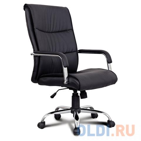 Кресло офисное BRABIX Space EX-508, экокожа, хром, черное, 530860 кресло офисное brabix maestro ex 506 экокожа черное 530877