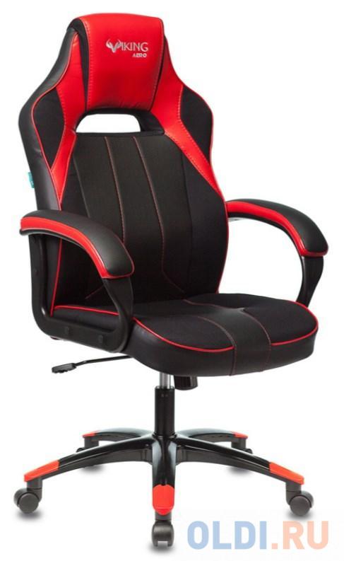 Кресло игровое Бюрократ VIKING 2 AERO RED черный/красный искусственная кожа недорого