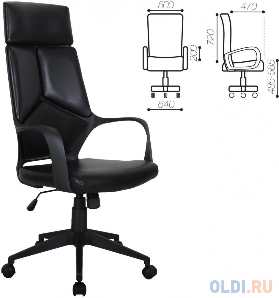 Кресло офисное BRABIX Prime EX-515, экокожа, черное, 531569