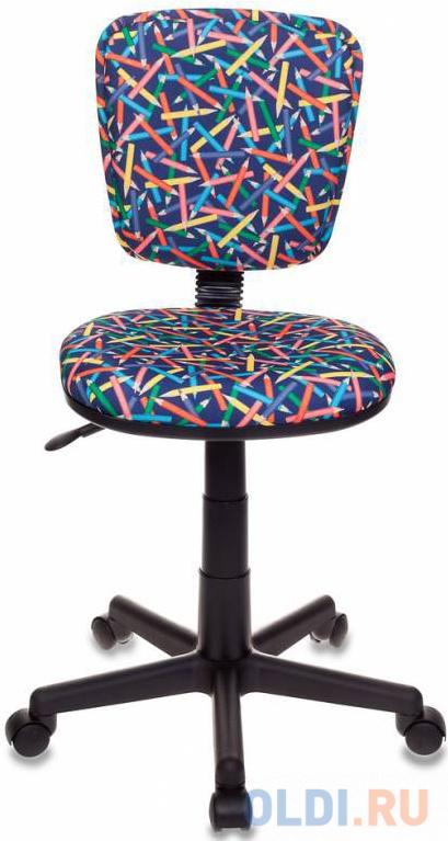 Кресло детское Бюрократ CH-204NX/PENCIL-BL синий карандаши компьютерное кресло бюрократ ch 204nx детское детское обивка текстиль цвет синий карандаши