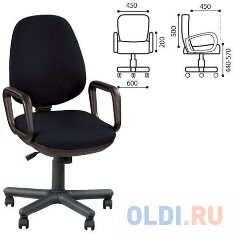 Кресло офисное Comfort GTP с подлокотниками, черное ZT-25