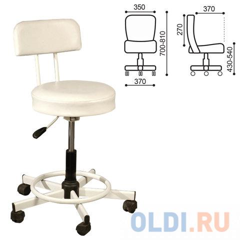 Кресло РС12, без подлокотников, кожзам, белое, РС01.00.12-210-