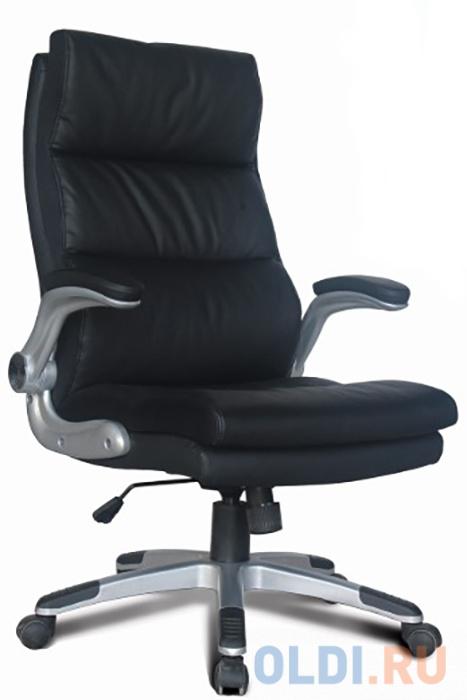 Кресло офисное BRABIX Fregat EX-510, рециклированная кожа, черное, 530863
