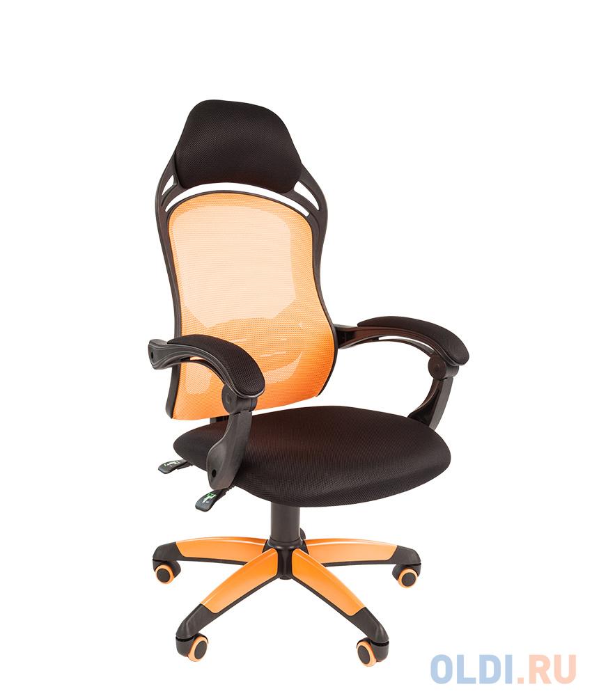 Офисное кресло Chairman game 12 черн.оранжевый офисное кресло chairman game 20 mebelvia