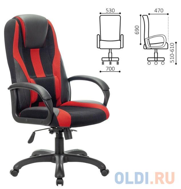 Кресло компьютерное BRABIX PREMIUM Rapid GM-102, НАГРУЗКА 180 кг, экокожа/ткань, черное/красное, 532107 кресло компьютерное brabix premium rapid gm 102 нагрузка 180 кг экокожа ткань черное красное 532107
