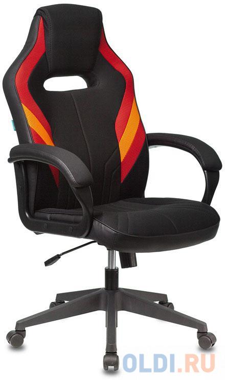 Кресло игровое Бюрократ VIKING 3 AERO RED черный/красный искусственная кожа недорого