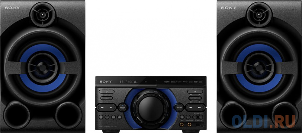Фото - Минисистема Sony MHC-M40D черный/CD/CDRW/DVD/DVDRW/FM/USB/BT минисистема lg cl87 черный 2350вт cd cdrw fm usb bt