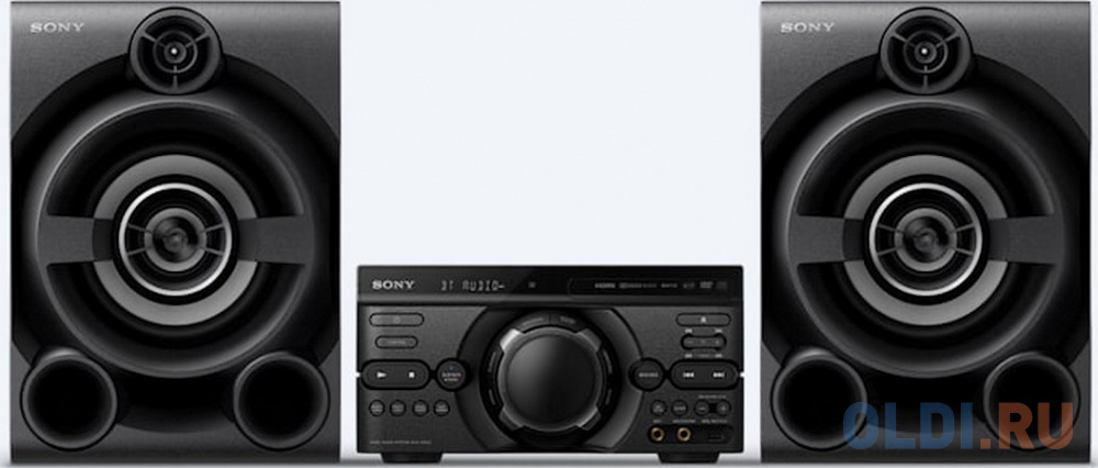 Фото - Минисистема Sony MHC-M60D черный/CD/CDRW/DVD/DVDRW/FM/USB/BT минисистема lg cl87 черный 2350вт cd cdrw fm usb bt