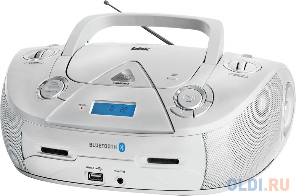 Аудиомагнитола BBK BX318BT серебристый 5Вт/CD/CDRW/MP3/FM(dig)/USB/BT аудиомагнитола telefunken tf srp3503b серый 6вт mp3 fm dig usb bt sd
