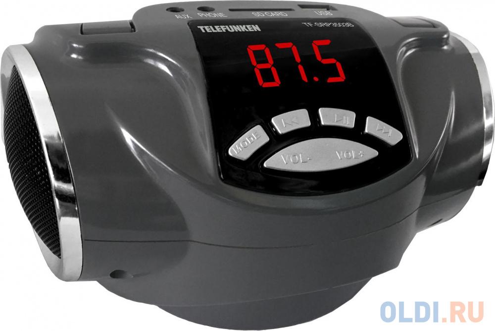 Фото - Аудиомагнитола Telefunken TF-SRP3503B серый 6Вт/MP3/FM(dig)/USB/BT/SD аудиомагнитола telefunken tf srp3503b серый 6вт mp3 fm dig usb bt sd