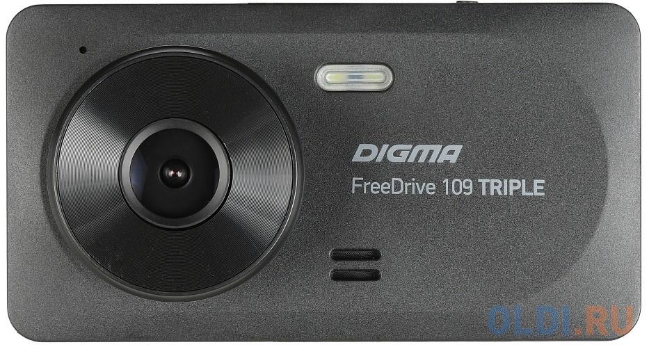 Видеорегистратор Digma FreeDrive 109 TRIPLE черный 1Mpix 1080x1920 1080p 150гр. JL5601 фото