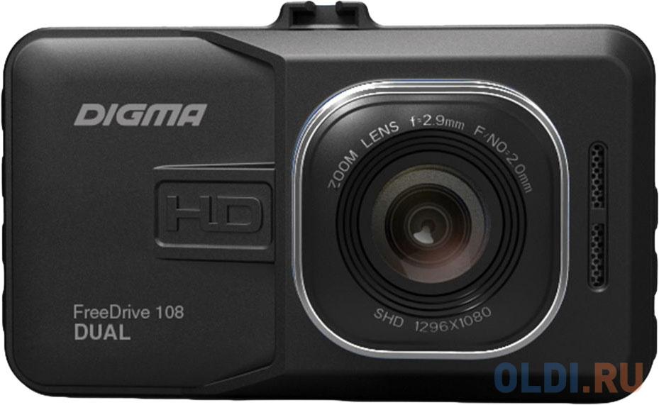 Видеорегистратор Digma FreeDrive 108 DUAL черный 1080x1920 1080p 140гр. GP2248 видеорегистратор digma freedrive 118 черный