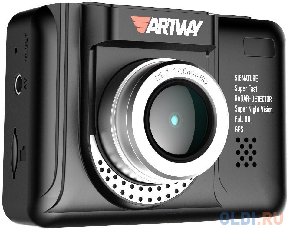 Видеорегистратор с радар-детектором Artway MD-108 GPS черный видеорегистратор с радар детектором parkprofi evo 9000 gps черный