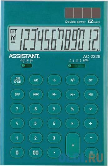 Калькулятор настольный Assistant AC-2329 12-разрядный assistant