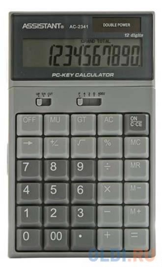 Калькулятор настольный Assistant AC-2341 12-разрядный assistant
