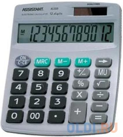 Калькулятор 12-разр., двойное питание, серебристый пластик, разм.152х120х39 мм фото