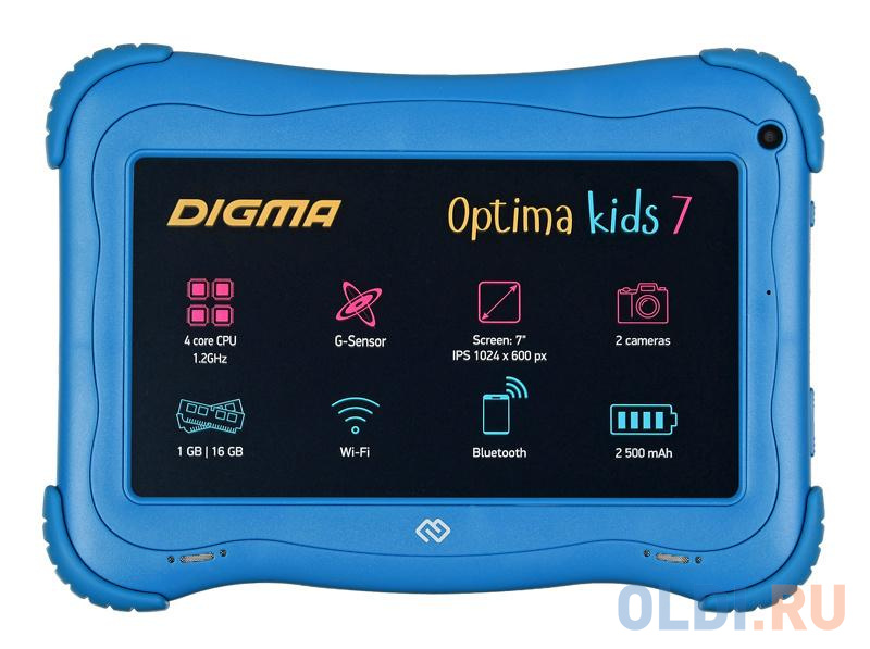 Планшет Digma Optima Kids 7 7 16Gb Blue Wi-Fi Bluetooth Android TS7203RW.