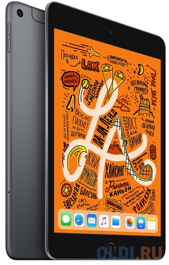 Планшет Apple iPad mini Wi-Fi+Cellulari256GB 7.9 цвета серый космос 2019 MUXC2RU/A A12 (2.49) / 256Gb / 7.9'' Retina / Wi-Fi / BT / 3G / LTE /7+8mpx планшет apple ipad mini 2019 7 9 256gb space gray 3g lte bluetooth wi fi ios muxc2ru a
