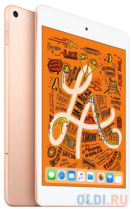 Планшет Apple iPad mini Wi-Fi+Cellular 256GB 7.9 золотого цвета 2019 MUXE2RU/A A12 (2.49) / 256Gb / 7.9'' Retina / Wi-Fi / BT / 3G / LTE /7+8mpx / iO планшет apple ipad mini 2019 7 9 256gb space gray 3g lte bluetooth wi fi ios muxc2ru a