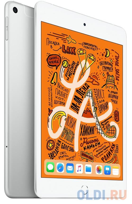 Планшет Apple iPad mini Wi-Fi+Cellular 256GB 7.9 серебрянного цвета 2019 MUXD2RU/A A12 (2.49) / 256Gb / 7.9'' Retina / Wi-Fi / BT / 3G / LTE /7+8mpx планшет apple ipad mini 2019 7 9 256gb space gray 3g lte bluetooth wi fi ios muxc2ru a