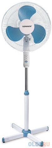 Вентилятор напольный Sonnen SF-45W-40-02 45 Вт белый синий фото