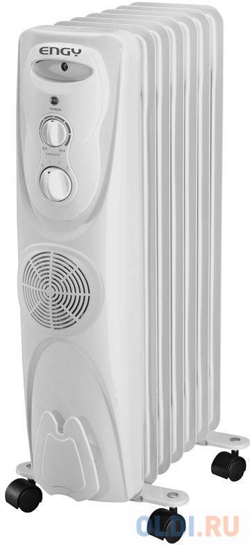 Масляный радиатор Engy EN-1307F 2000 Вт белый биметаллический радиатор rifar рифар b 500 нп 10 сек лев кол во секций 10 мощность вт 2040 подключение левое