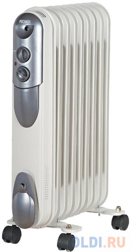 Масляный радиатор Ресанта ОМПТ-9Н 2000 Вт белый.