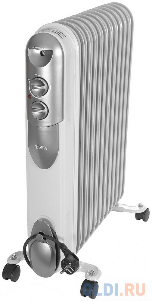 Масляный радиатор Ресанта ОМПТ-12Н 2500 Вт белый.