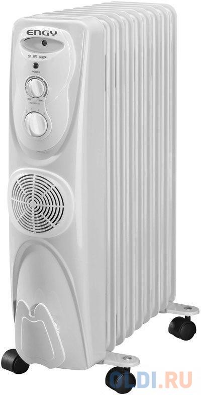 Масляный радиатор Engy EN-1309F 2500 Вт белый биметаллический радиатор rifar рифар b 500 нп 10 сек лев кол во секций 10 мощность вт 2040 подключение левое