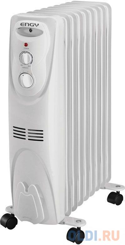 Масляный радиатор Engy EN-1309 2000 Вт белый биметаллический радиатор rifar рифар b 500 нп 10 сек лев кол во секций 10 мощность вт 2040 подключение левое