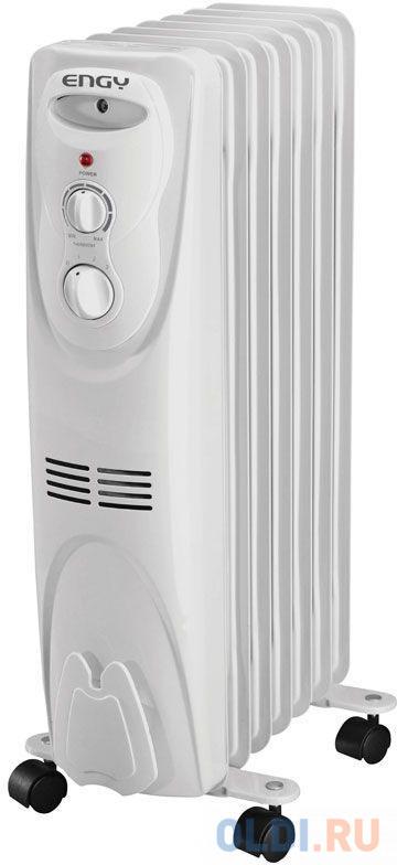 Масляный радиатор Engy EN-1307 1500 Вт белый биметаллический радиатор rifar рифар b 500 нп 10 сек лев кол во секций 10 мощность вт 2040 подключение левое