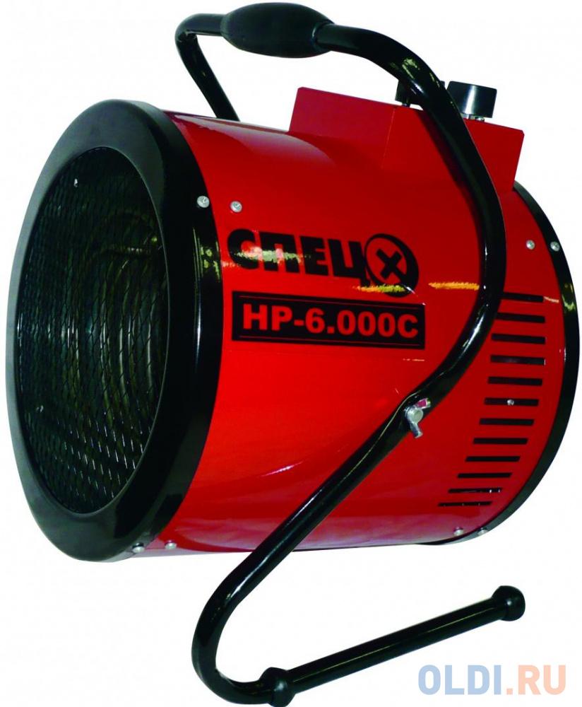 Тепловая пушка электрическая Спец СПЕЦ-HP-6.000С 6000Вт красный/черный.