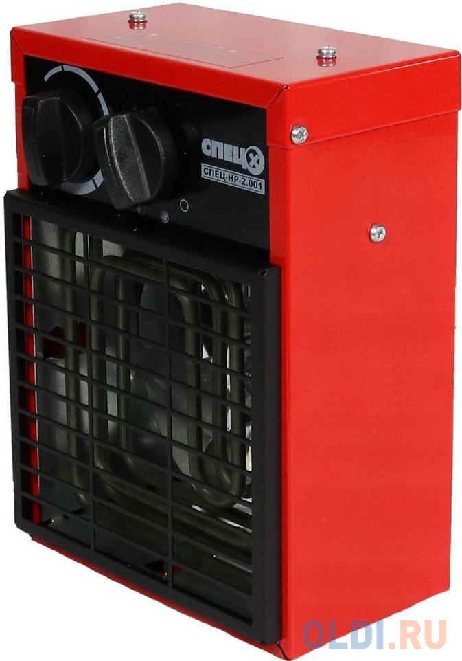 Тепловентилятор Спец СПЕЦ-НР-2.001 2000Вт красный/черный.