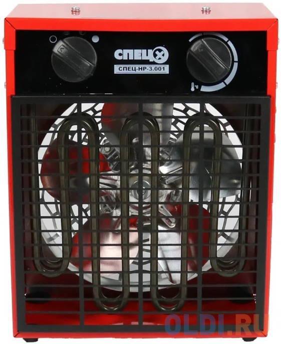 Тепловентилятор Спец СПЕЦ-НР-3.001 3000Вт красный/черный.