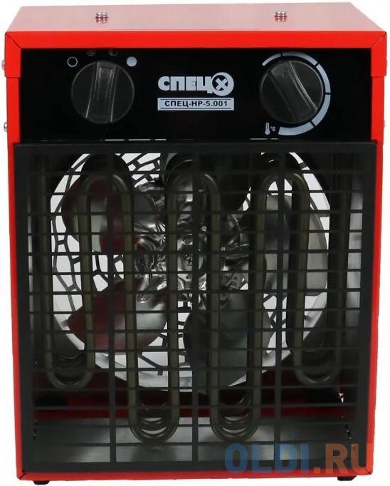 Тепловентилятор Спец СПЕЦ-HP-5.001 4500Вт красный/черный.