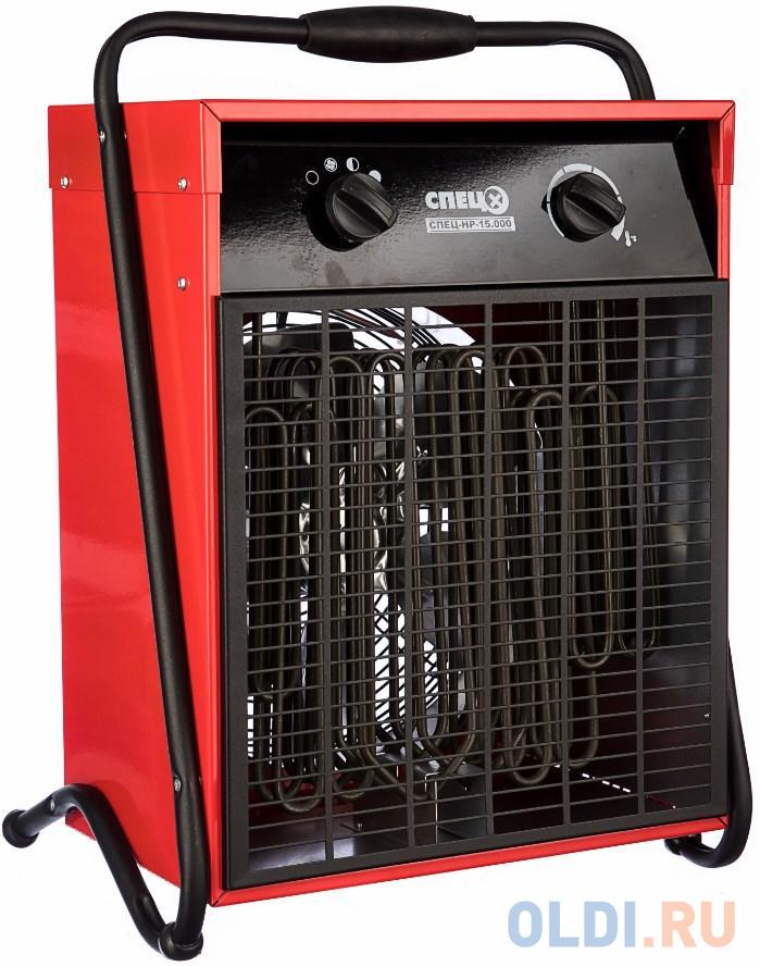 Тепловентилятор Спец СПЕЦ-HP-15.000 15000Вт красный/черный.