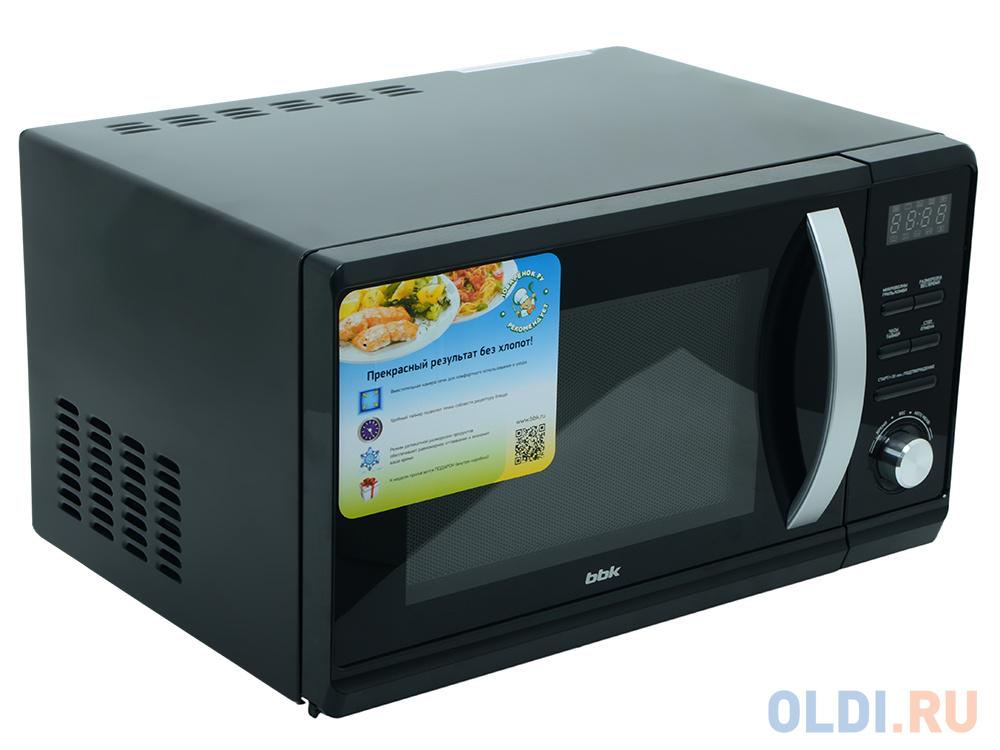 Микроволновая печь BBK 23MWG-851T/B, гриль, 23л, эл. управ, 800Вт, черный микроволновая печь bbk 23mwg 851t b