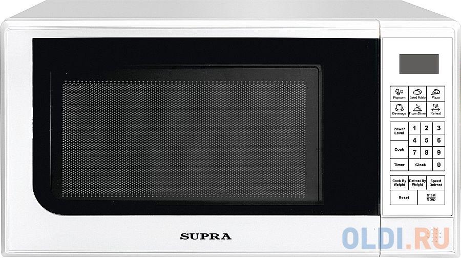 Микроволновая печь Supra 20SW25 700 Вт белый соковыжималка supra jes 1027 25 вт оранжевый