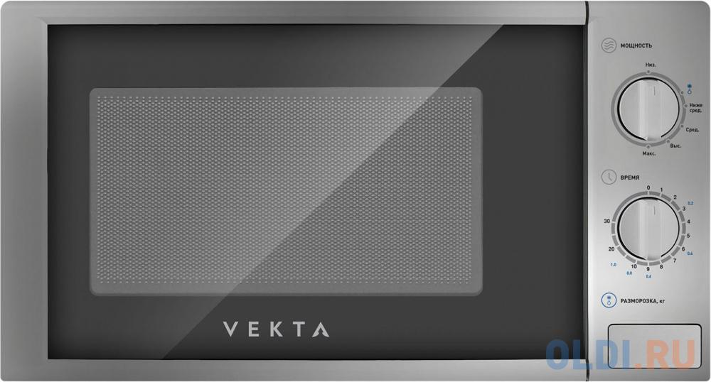 Фото - Микроволновая печь Vekta MS720AHS 700 Вт серебристый микроволновая печь candy cmxw20ds 700 вт серебристый чёрный