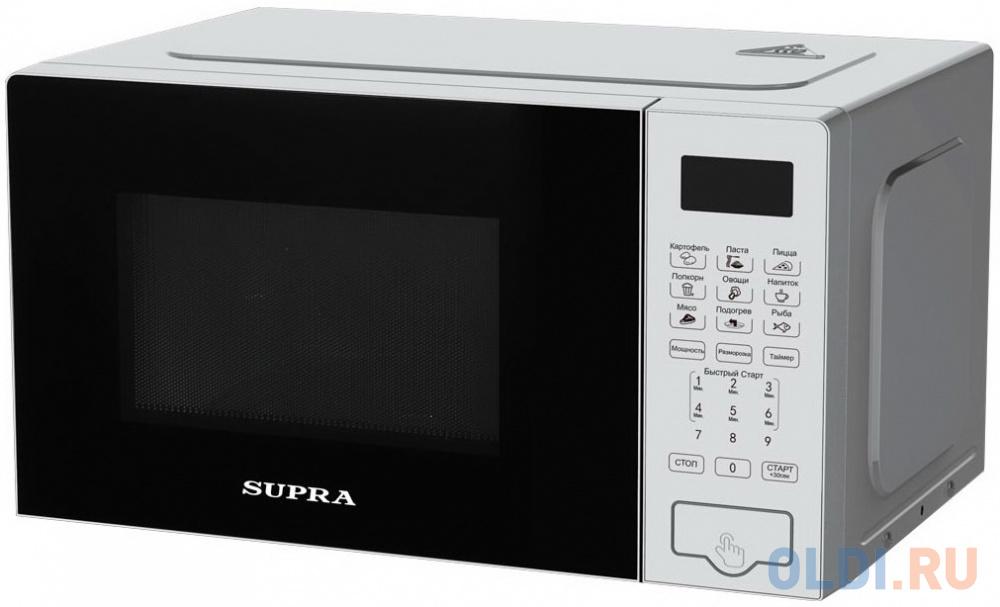 Фото - Микроволновая печь Supra 20SS50 700 Вт серебристый микроволновая печь candy cmxw20ds 700 вт серебристый чёрный