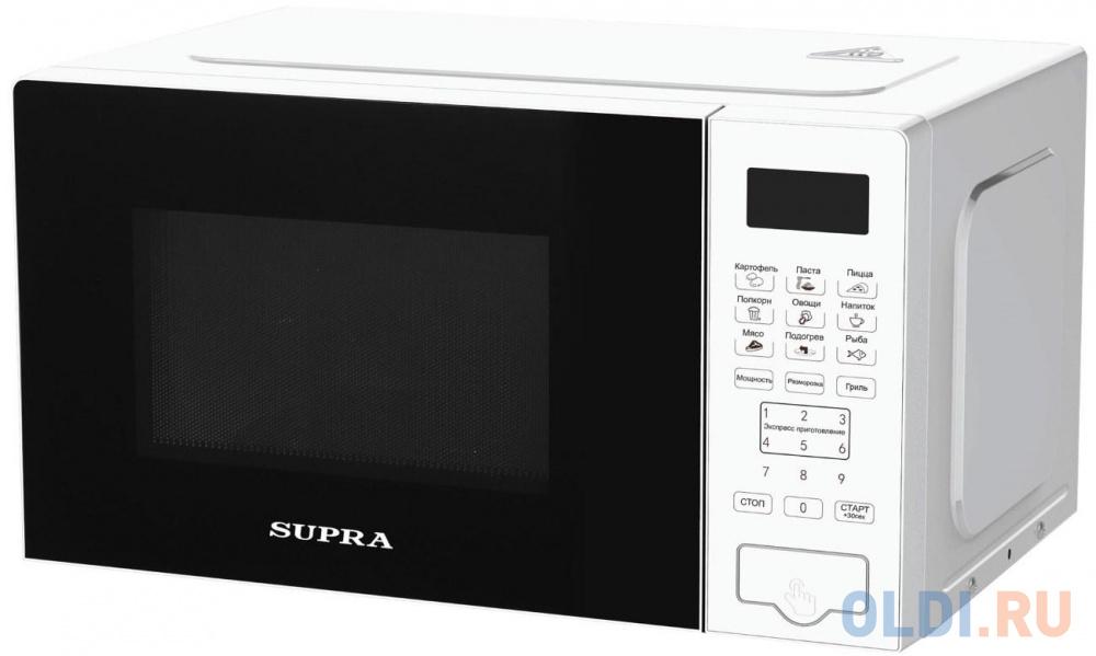 Фото - Микроволновая печь Supra 20SWG50 700 Вт белый микроволновая печь supra 20sw25 белый
