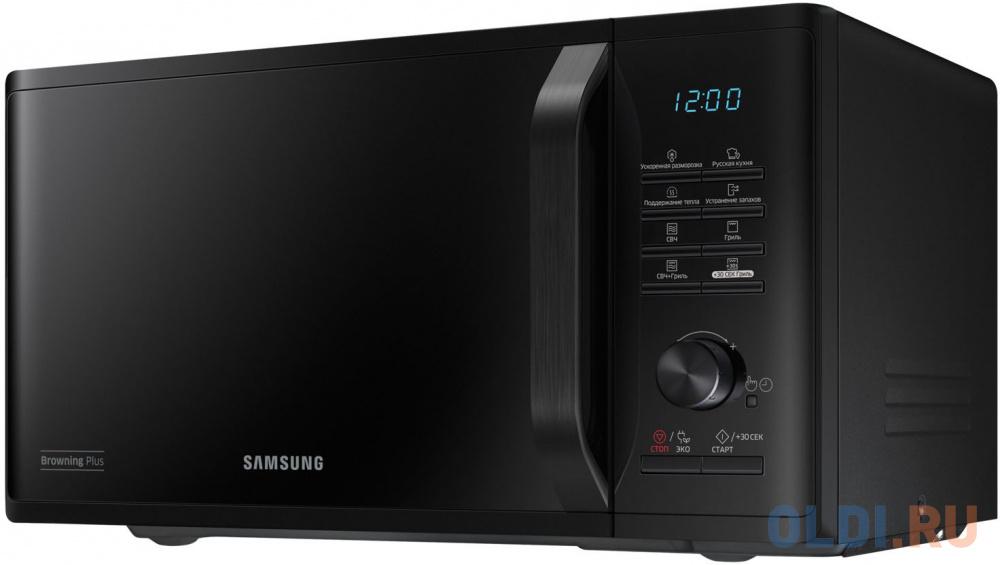 Фото - Микроволновая печь Samsung MG23K3515AK/BW 800 Вт чёрный микроволновая печь samsung ge 83krw 1 bw